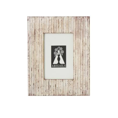 $48.00 Picture Frame, Carved Wood Silver