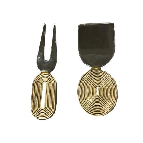 $98.00 Formaggio Trance Cheese Knives, Set/2