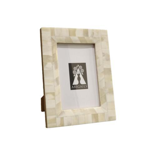 $77.00 Inlaid Frame, Bone, 4X6 Photo