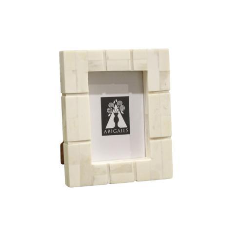 $46.00 Inlaid Frame, Cream Bone, 4X6 Photo