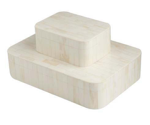 $264.00 Ivory Bone Inlaid Box, Large