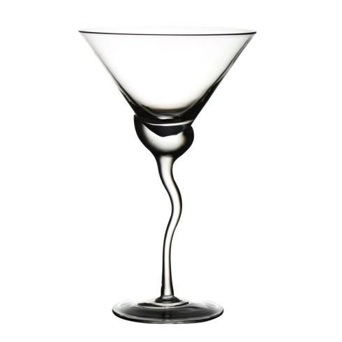 $101.00 Martini Glass, Wave Stem, Set Of 4