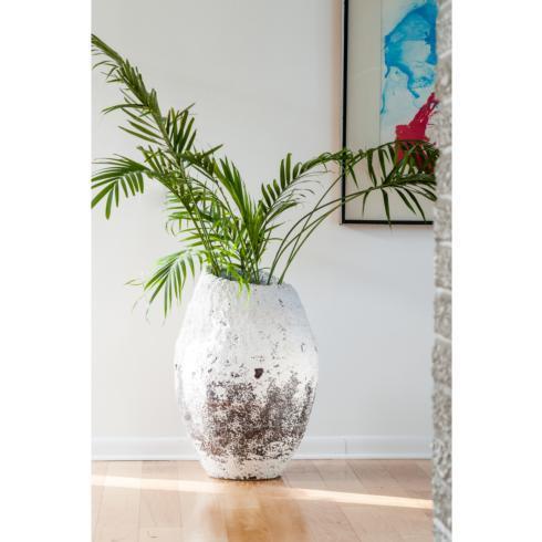 $588.00 White Washed Finished Ceramic Pot, Large