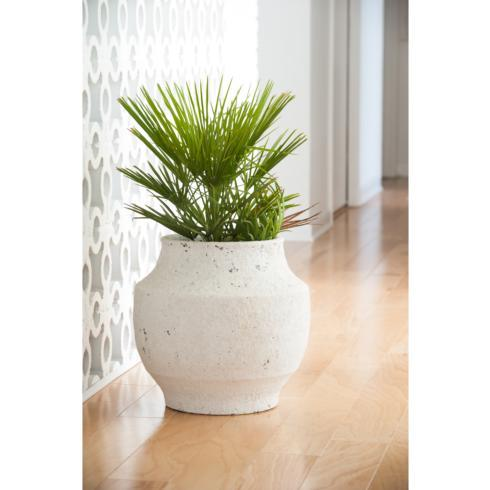 $238.00 White Washed Finished Ceramic Pot, Medium