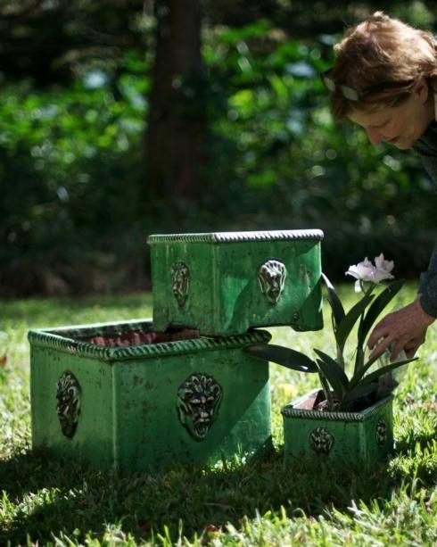 $214.00 Planter, Green, Set Of 3