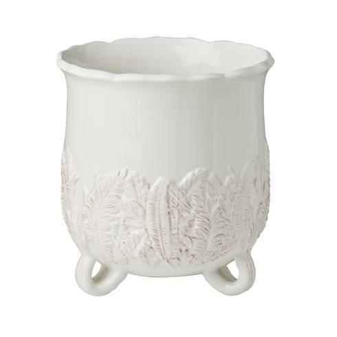 $70.00 White Cachepot with Leaves