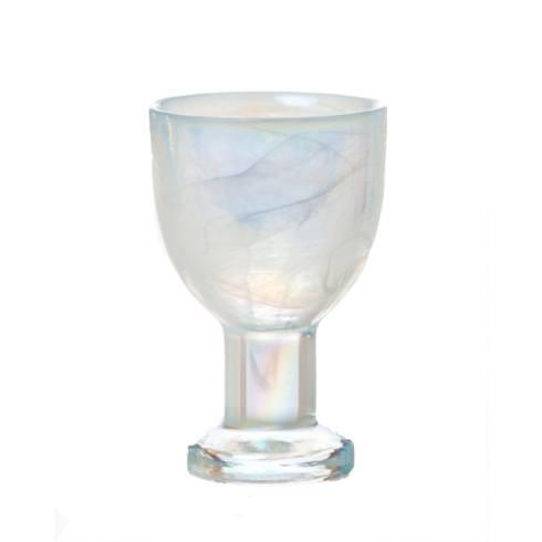 $38.00 White Wine Glass, White Pearl, Set Of 4