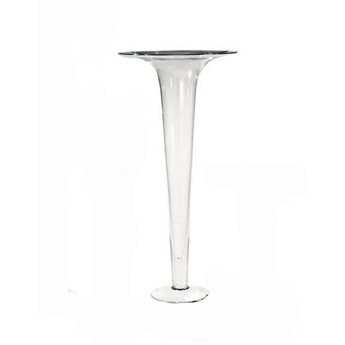 $113.00 Trumpet Vase, Clear, Medium