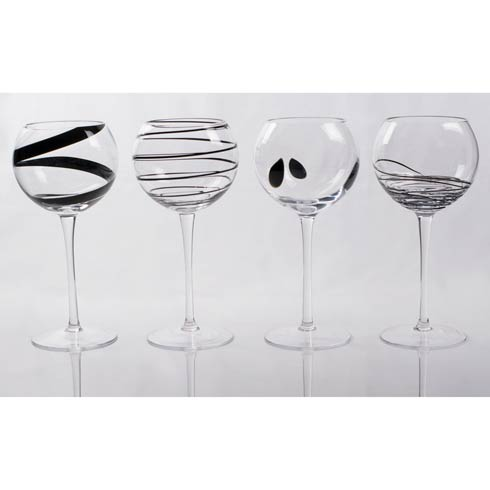 $94.00 Plaza Wine Glasses, Set of 4