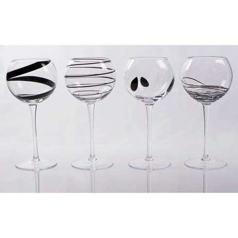 $94.00 Plaza Wine Glasses, Set of 4