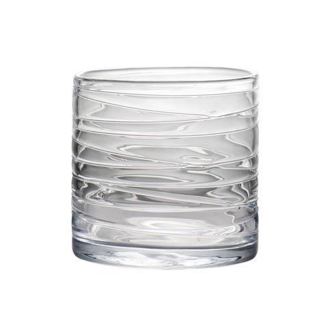 $58.00 Clear Hurricane with Swirls, Medium