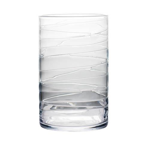 $74.00 Clear Hurricane with Swirls, Large