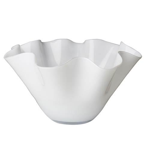 $214.00 Large White Bowl with Wavy Top
