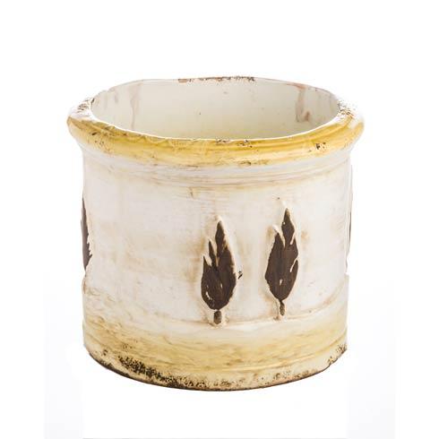 $142.00 Cachepot, Gold & Matte White