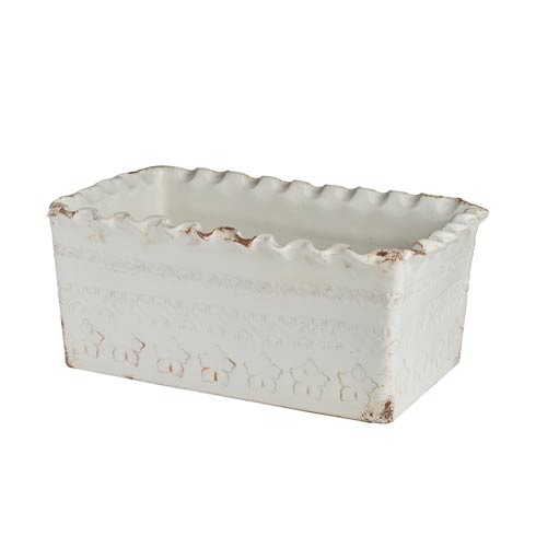 $238.00 White Planter, Rectangle