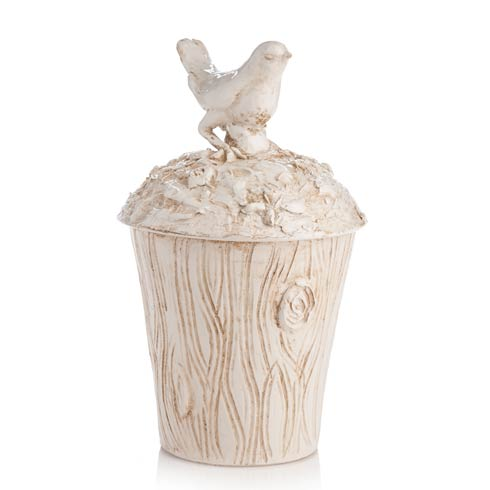 $286.00 Planter with Bird On Lid