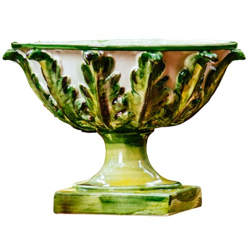 $540.00 Footed Bowl with Acanthus Leaves