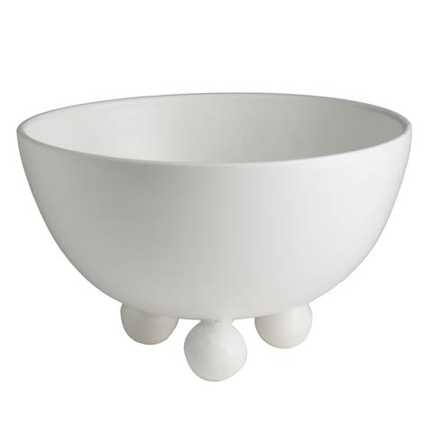 $214.00 Footed Bowl, Matte White