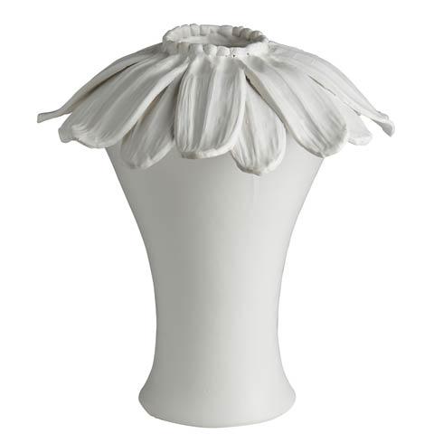 $478.00 Daisy Vase, Matte White