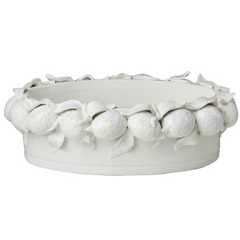 $442.00 Oval Lemon Bowl, White