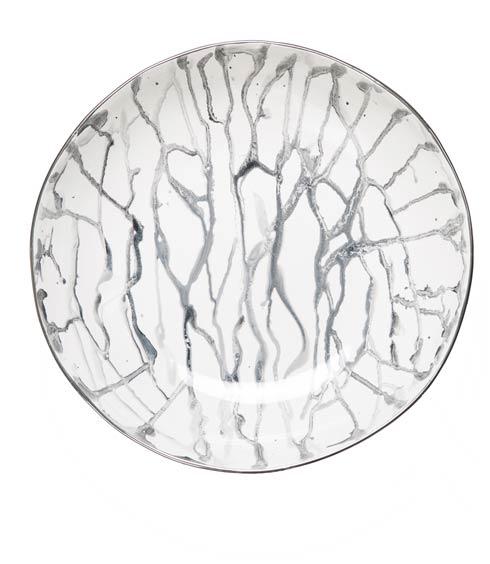 $214.00 Nero Marbleized Bowl with Platinum Trim