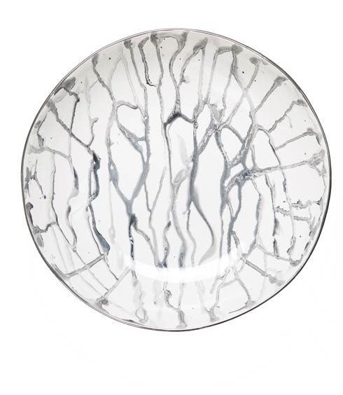 $214.00 Nero Marbleized Bowl with Platinum Trim