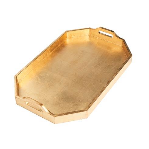 $310.00 Rectangle Tray, Large, Gold Finish