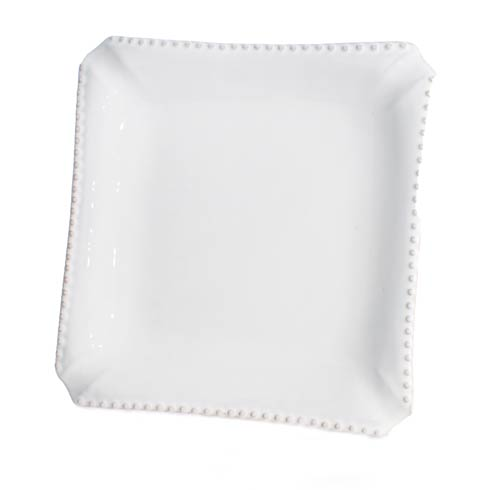 $154.00 Beaded Dinner Plate, Square, Set Of 4