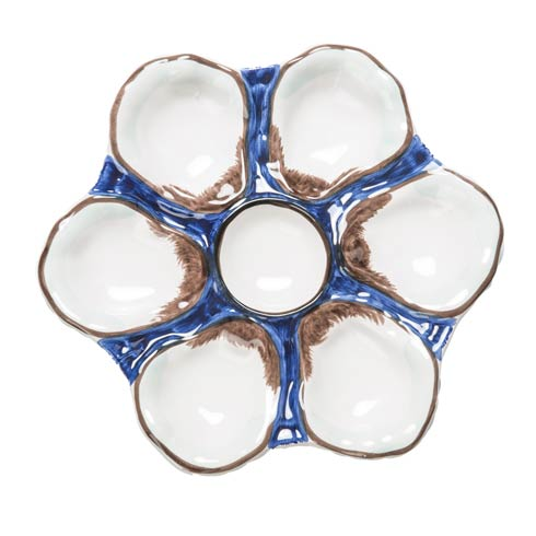 $86.00 Oyster Plate Navy, Set Of 2