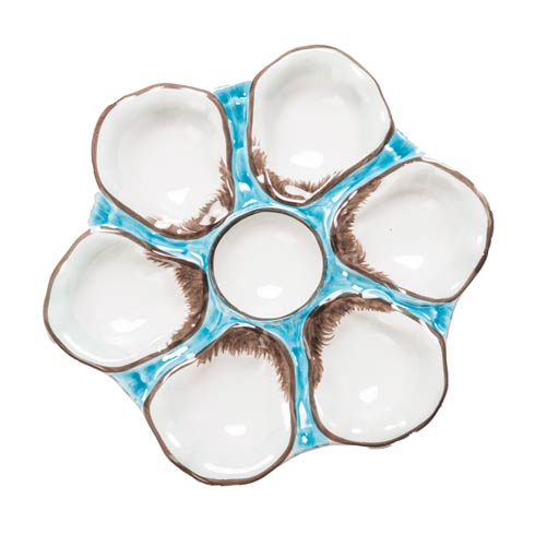$86.00 Oyster Plate Turquoise, Set Of 2