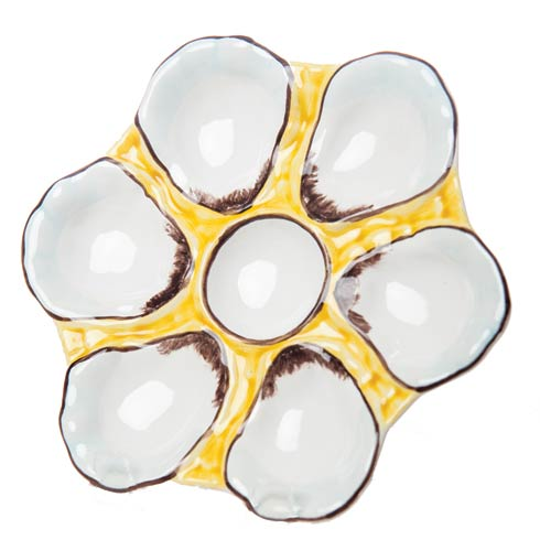 $86.00 Oyster Plate, Canary Yellow, Set Of 2