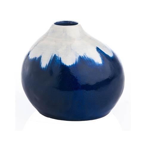 $44.00 Indigo & White Vase
