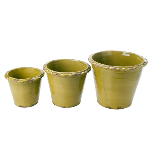 Thumbprint Pot Green, Set of 3 collection with 1 products