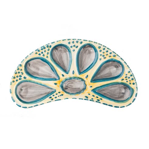Oyster Plate, Half Round Yellow, Set Of 2 collection with 1 products