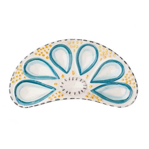 $53.00 Oyster Plate, Half Round Cream, Set Of 2