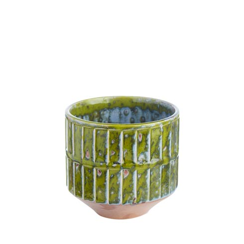 $43.00 Green Botanical Cachepot