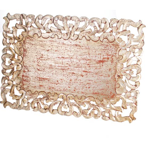 $187.00 Placemat, Rectangle, Silver, Set Of 4