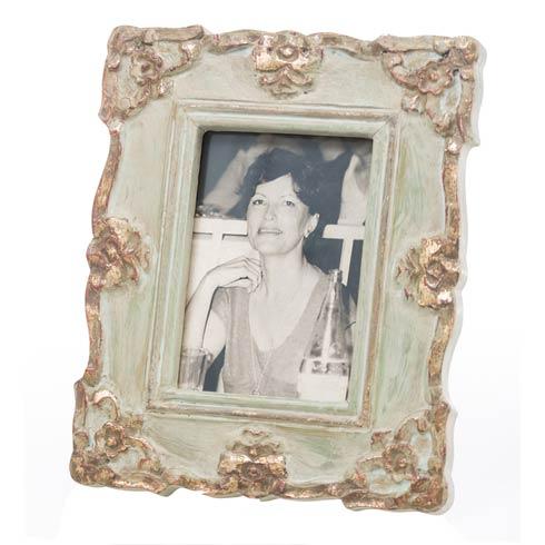 $76.00 Frame Blue/Gold Rect