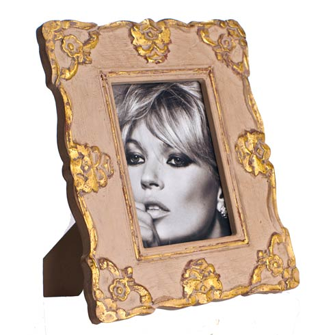 $74.00 Frame Gray & Gold