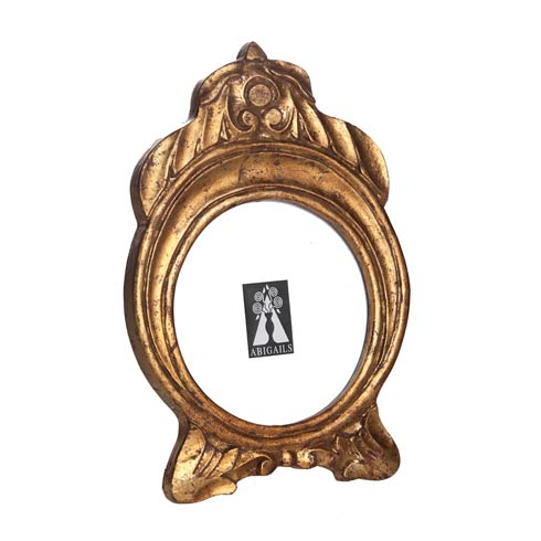 $29.00 Frame, Round, Gold Leaf