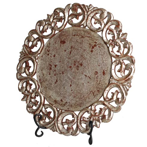 $245.00 Placemat, Round, Silver, Set Of 4