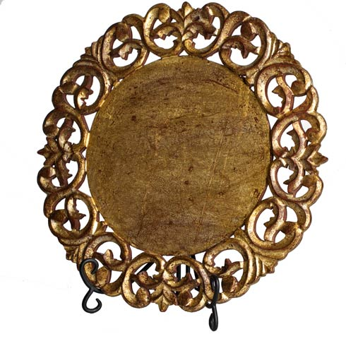 $264.00 Placemat, Round, Gold, Set Of 4