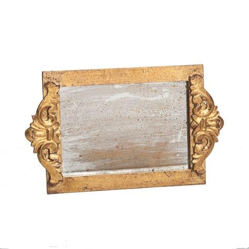 $86.00 Vanity Tray Antiqued Mirror, Gold