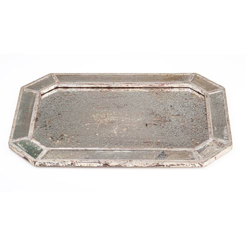 $168.00 Mirrored Tray with Silver Finish