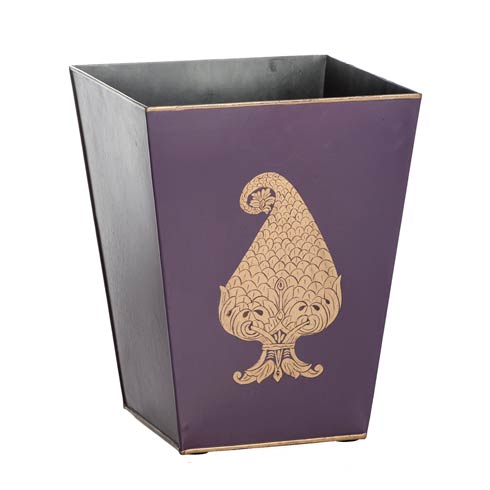 Tapered Wastebin, Purple Paisley collection with 1 products