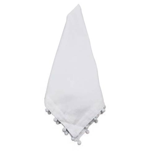 $48.00 Napkin Off-White with White Pom Pom, Set Of 4