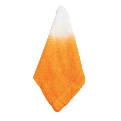 $38.00 Napkin Tangerine with White Int Tye, Set Of 4