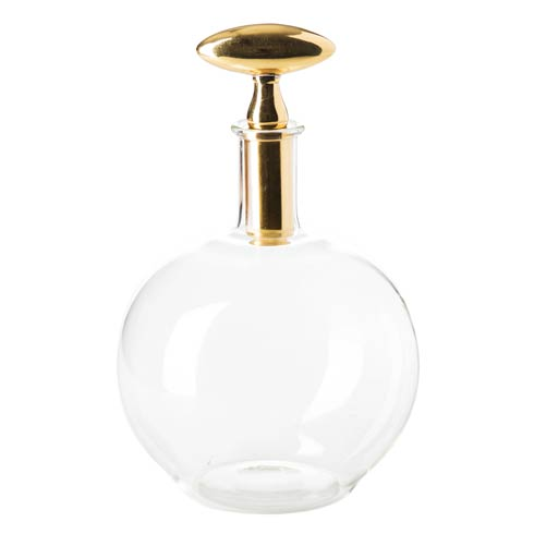 $166.00 Decanter with Brass Top, Small