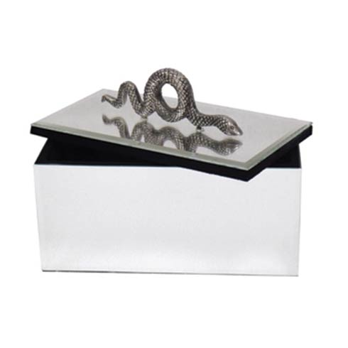 $167.00 Mirrored Box with Snake Embellishment