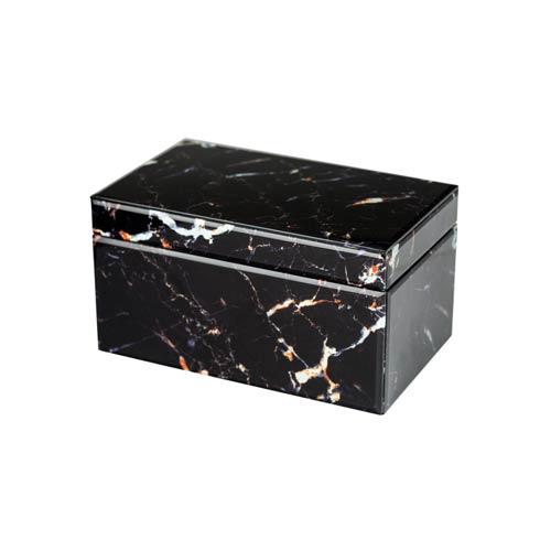 $191.00 Black Marbled Box
